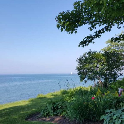 View of Lake Ontario from the Museum grounds