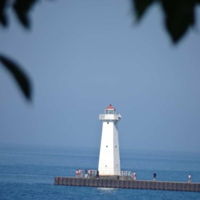 The new lighthouse at the end of the pier