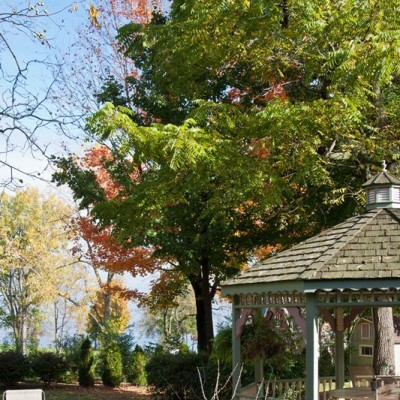 Our gazebo, just steps from the shore of Lake Ontario
