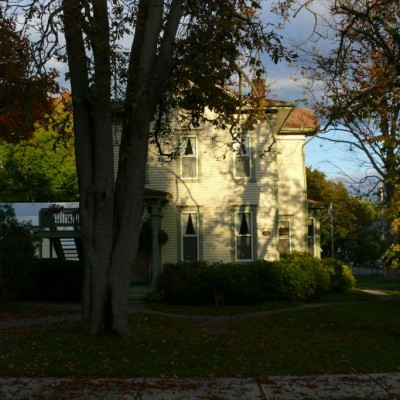 The Carriage House Inn in late afternoon light.