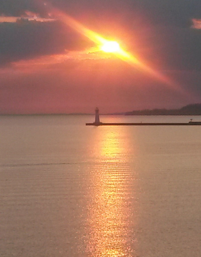sunrise over sodus point